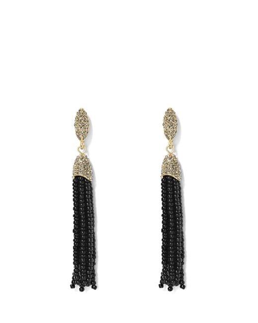 Vince Camuto   Metallic Seed Bead Tassel Earrings   Lyst