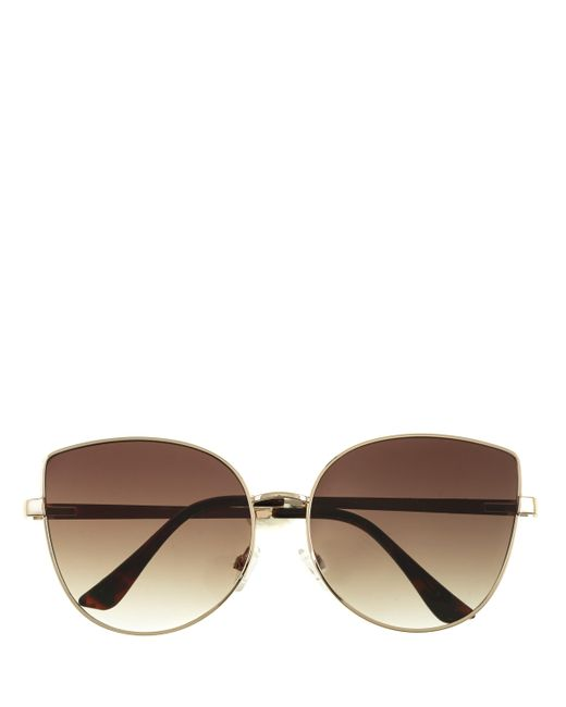 Vince Camuto | Brown Metal-trim Cat-eye Sunglasses | Lyst