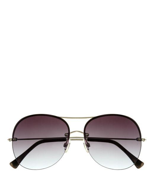 Vince Camuto | Brown Rimless Aviator Sunglasses | Lyst