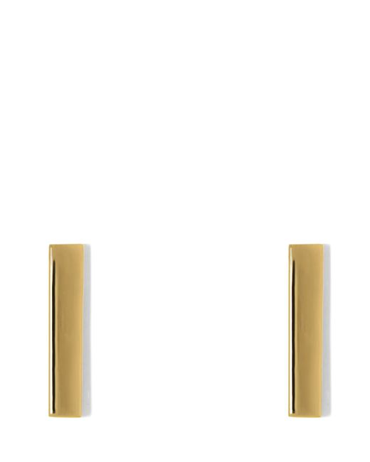 Vince Camuto | Metallic Golden Linear Earrings | Lyst