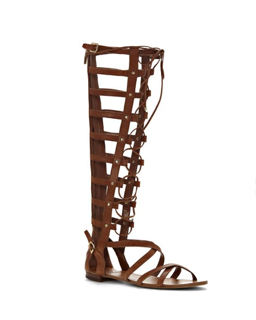 Vince Camuto Mesta Lace Up Tall Gladiator Sandal In