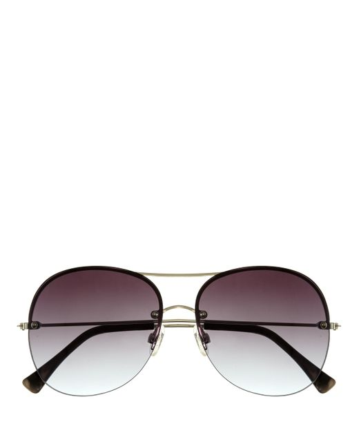 Vince Camuto | Brown Rimless Aviator Sunglasses | Lyst