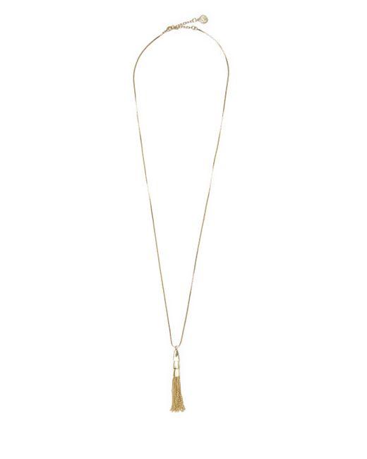 Vince Camuto   Metallic Goldtone Tassel Necklace   Lyst