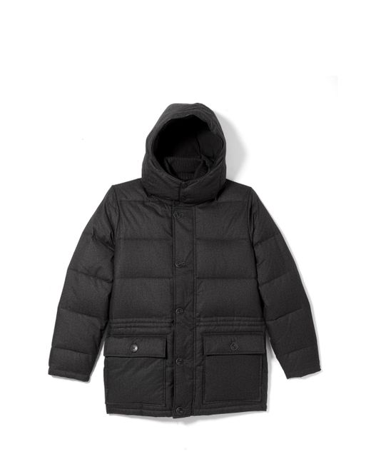 Vince Camuto | Gray Flannel Down Anorak for Men | Lyst