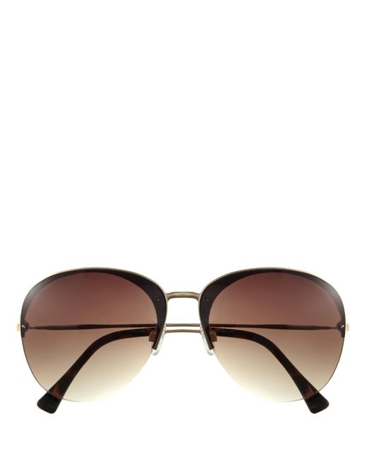 Vince Camuto | Brown Metal-frame Gradient-lens Sunglasses | Lyst