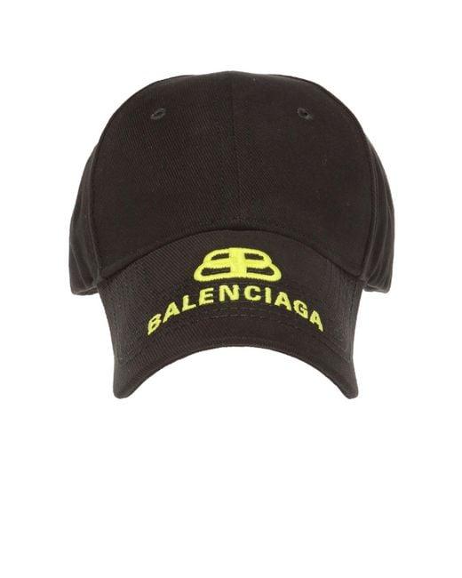 c8509662 Balenciaga - Black Logo-embroidered Baseball Cap - Lyst ...
