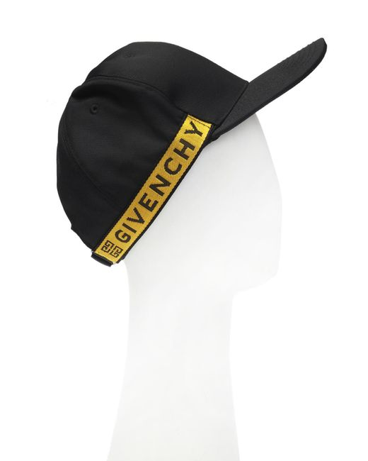 b06da88a9e5 ... Givenchy - Black Branded Baseball Cap for Men - Lyst ...
