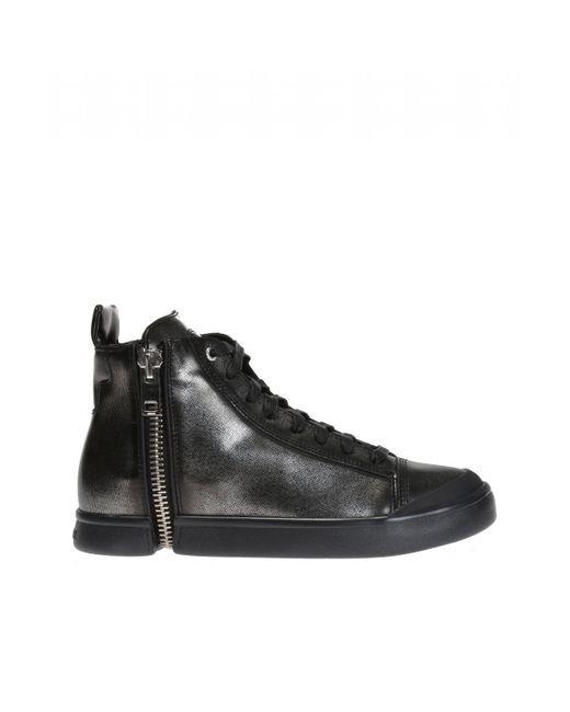 DIESEL - Black 's-nentish' High-top Sneakers - Lyst