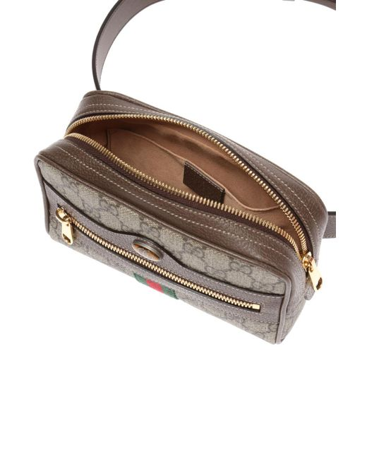 f7d61dab5 Gucci Brown Ophidia GG Supreme Small Belt Bag in Brown - Save 15% - Lyst