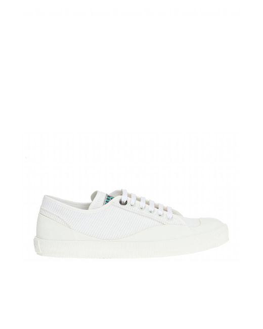 Lanvin - White Corduroy Sneakers for Men - Lyst