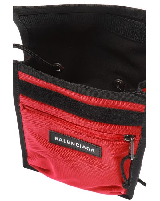 4a8db1f3e Balenciaga Red Explorer Logo Embroidered Pouch in Red for Men - Save ...
