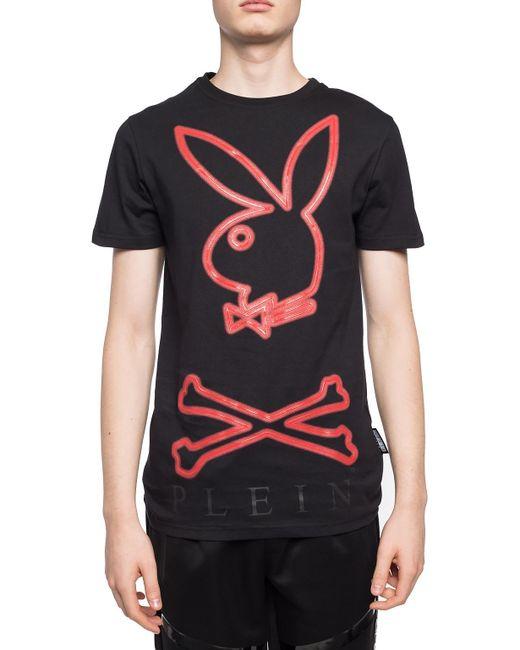 Lyst - Philipp Plein Playboy T-shirt in Black for Men - Save 73% 7eb0029bd