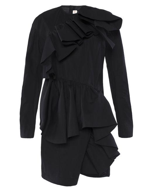 Marni - Black Short Ruffle Dress - Lyst