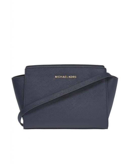 2e0bbe91e01b Michael Kors  selma  Shoulder Bag in Blue - Save 2% - Lyst