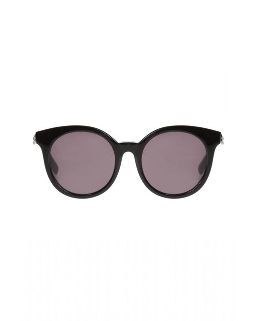 Stella McCartney - Black Sunglasses With Chain Pattern - Lyst