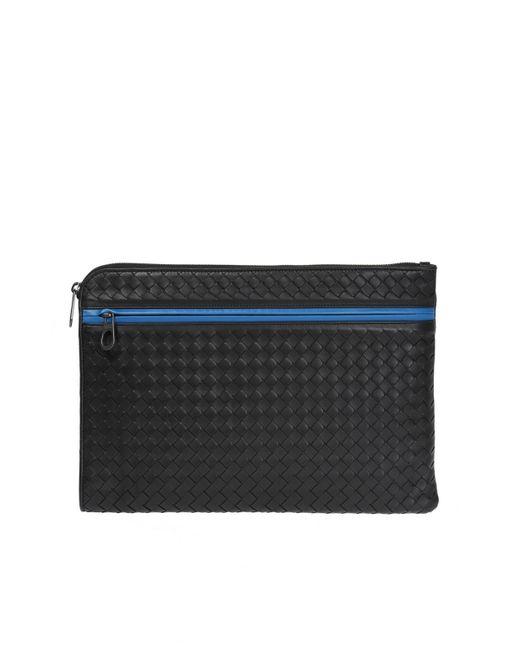 cbe41786250d Bottega Veneta - Black Leather Briefcase for Men - Lyst ...