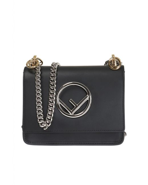 619af4f19b88 ... clearance fendi black kan i f shoulder bag 3c35a f3712