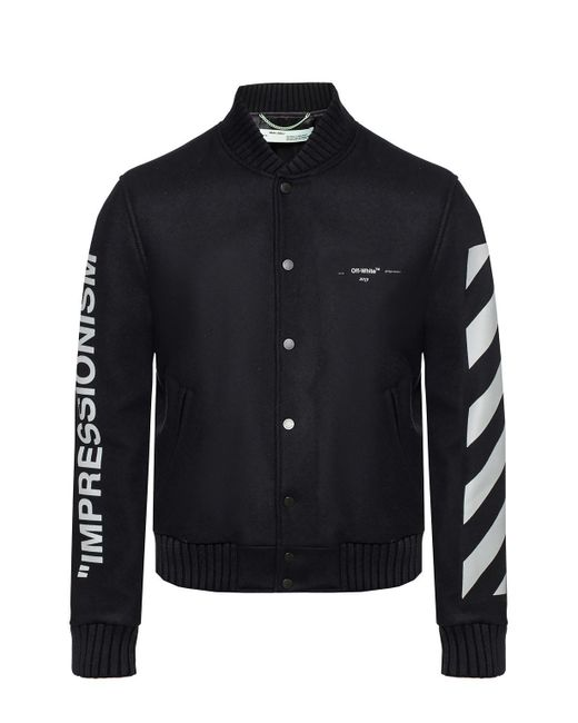 9934285724b0 Off-White c o Virgil Abloh - Black Printed Jacket for Men - Lyst ...