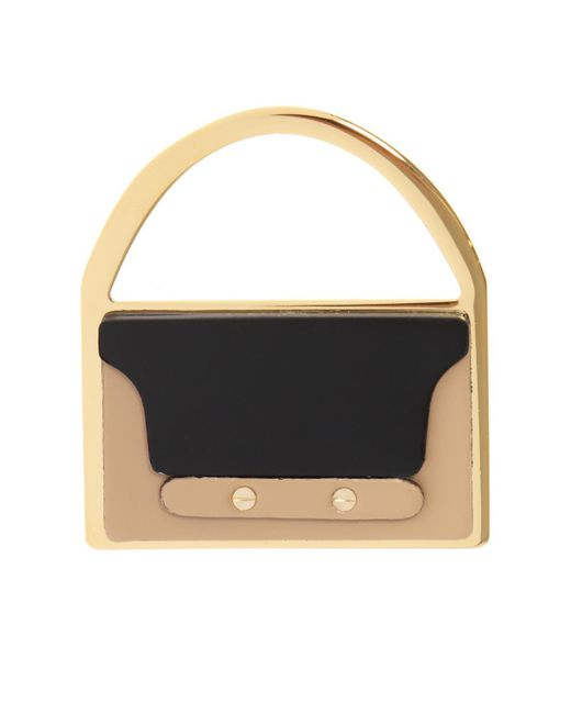 Marni - Black Bag-shaped Brooch - Lyst