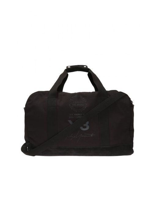 Y-3 - Black Holdall With Logo for Men - Lyst