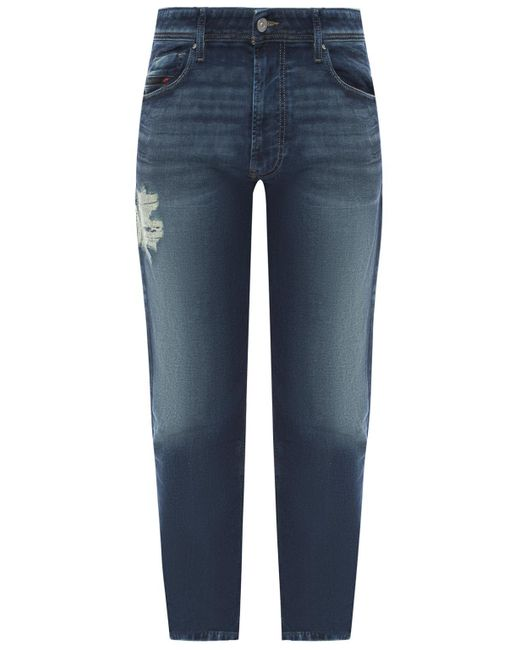 dad5000c DIESEL - Blue 'narrot-t' Distressed Jeans for Men - Lyst ...
