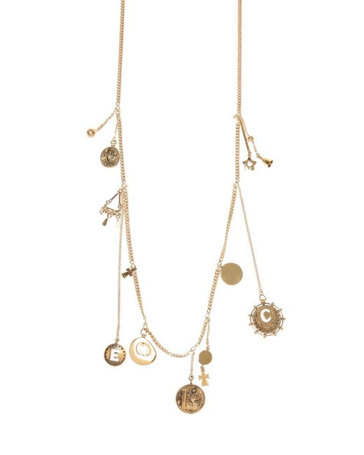 Chloé - Metallic Necklace With Charms - Lyst