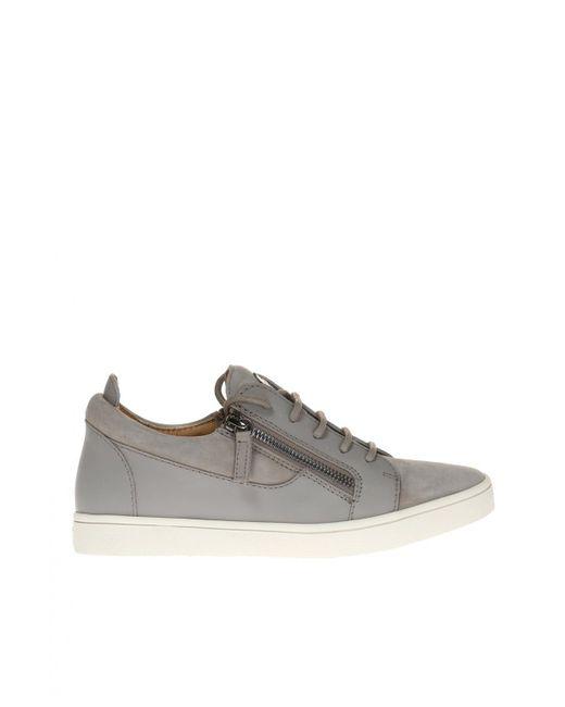 Giuseppe Zanotti - Gray 'frankie' Sneakers - Lyst