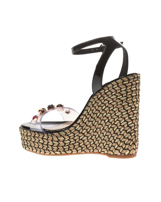 c16fce279 ... Sophia Webster - Black Women s Dina Embellished Wedge Platform Espadrille  Sandals ...