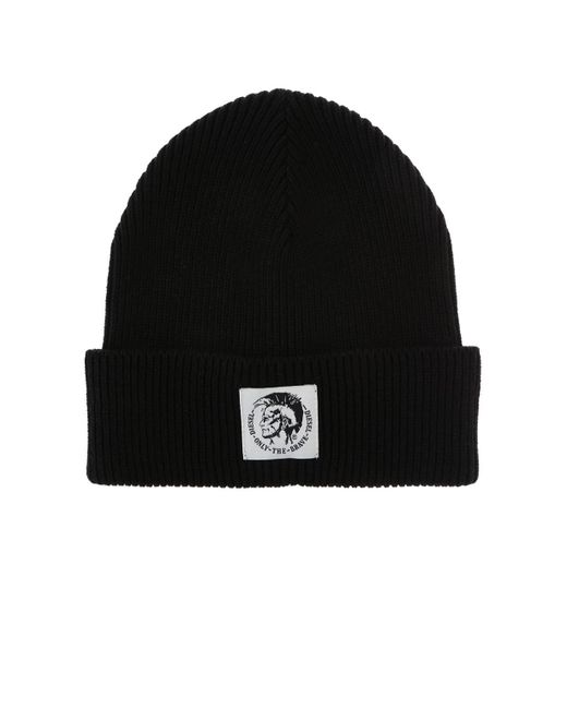 51aa219efee07 DIESEL - Black Branded Hat for Men - Lyst ...