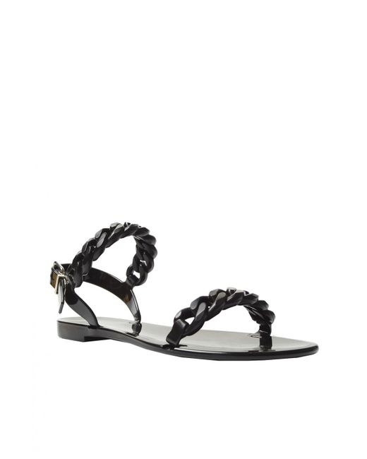 1b9efb0a4acd ... Givenchy - Black Rubber Sandals - Lyst ...