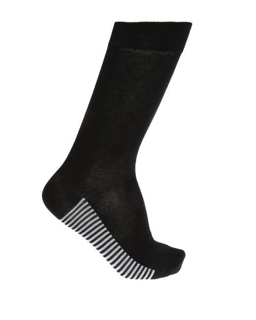 KENZO - Black Logo-embroidered Socks for Men - Lyst
