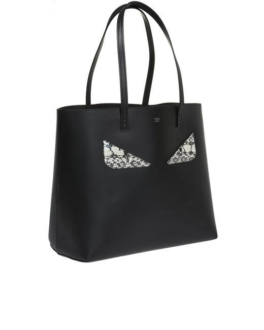 ... Lyst Fendi - Black  roll  Shopper Bag ... c80d2f8e335a2