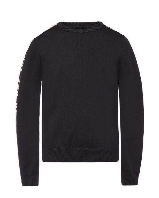 DIESEL - Black Branded Sweater for Men - Lyst