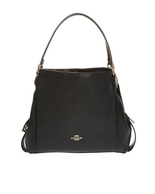 COACH - Black  edie  Shoulder Bag - Lyst ... 0f08e31ea7634
