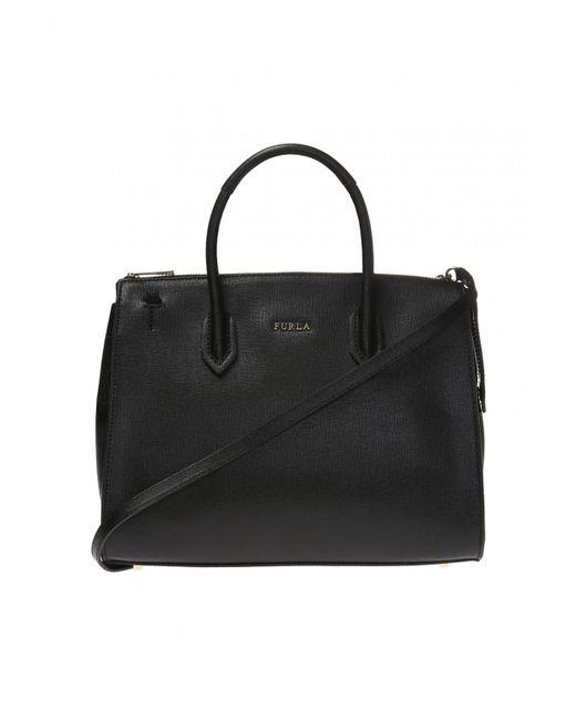 0a08fe3454 Furla 'pin' Shoulder Bag in Black - Lyst