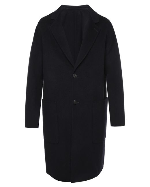 AMI - Blue Coat With Pockets for Men - Lyst