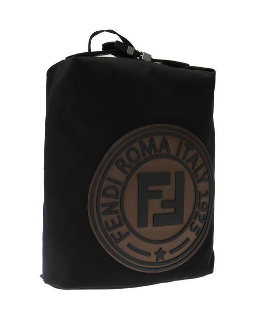 3f76455a11ea Fendi Branded Backpack in Black for Men - Save 42% - Lyst