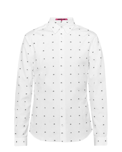 2ac1465c89 McQ Alexander McQueen - White Shirt With Swallows for Men - Lyst ...