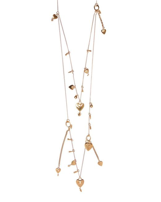 Chloé - Metallic 'collected Hearts' Necklace - Lyst