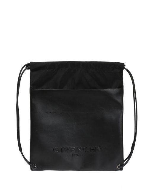 Givenchy - Black Embossed Logo Backpack for Men - Lyst