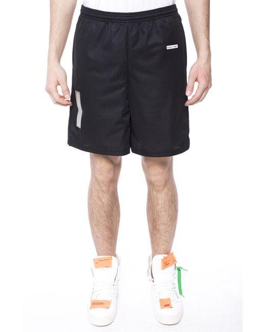 a89854827683 ... Off-White c o Virgil Abloh - Black Shorts With Sheer Insert for Men ...