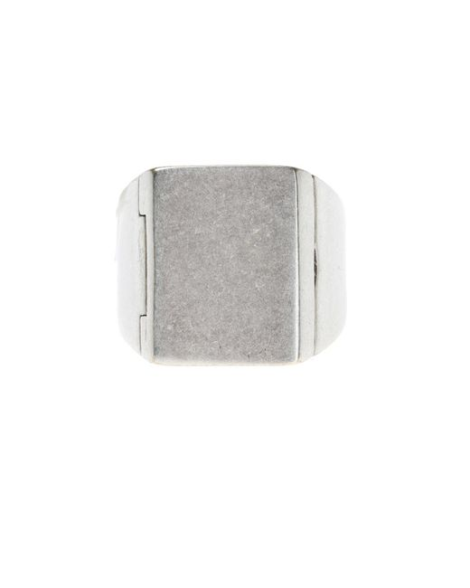 Maison Margiela - Metallic Brass Ring for Men - Lyst