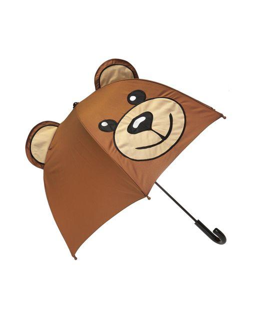 Moschino - Brown Teddy Bear Umbrella - Lyst