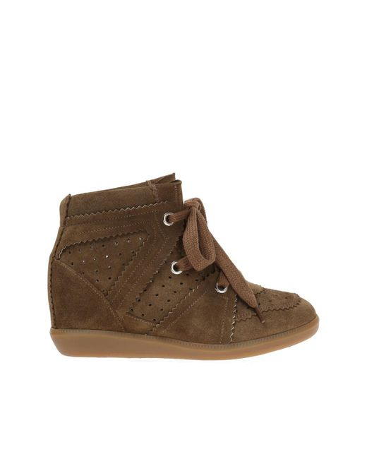 7b1b2b1c5db8 Lyst - Étoile Isabel Marant Wedge  bobby  Sneakers in Brown