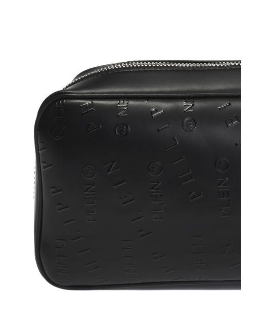 6b2ee0b2bb11 ... Philipp Plein - Black Branded One-shoulder Backpack for Men - Lyst