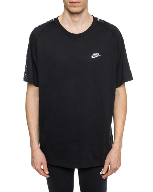 fe5ff7f76 Lyst - Nike Logo-embroidered T-shirt in Black for Men - Save 76%