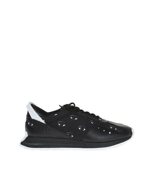 KENZO - Black Patterned Sneakers for Men - Lyst
