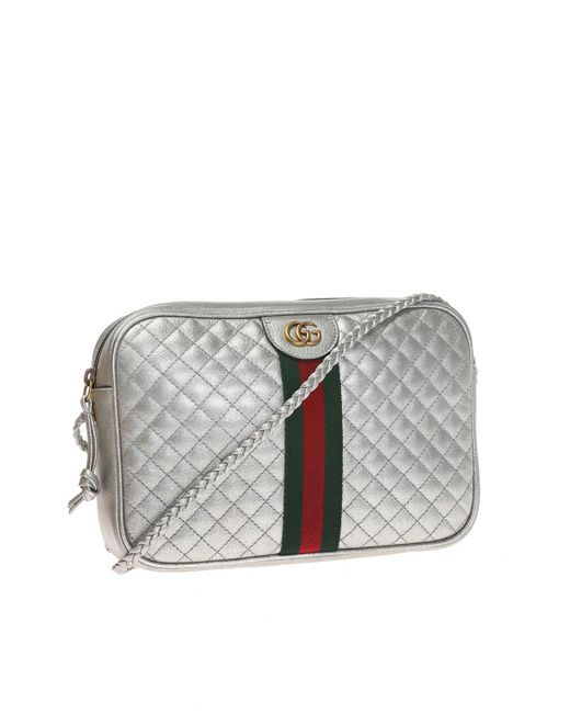 283da247885d Lyst - Gucci Laminated Leather Small Shoulder Bag in Metallic - Save 14%