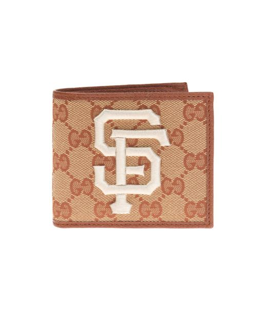 Gucci Brown Wallet With Sf Giantstm Patch for men