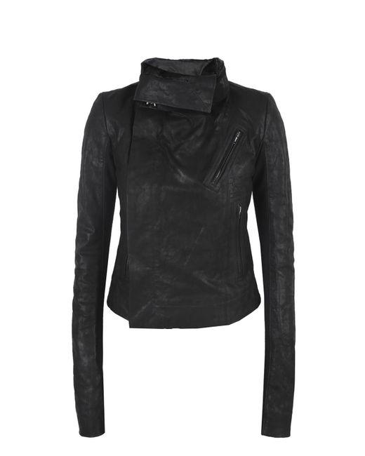 Rick Owens - Black Band Collar Leather Jacket - Lyst